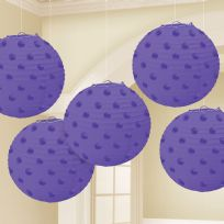 Purple Paper Lanterns 12cm (5)